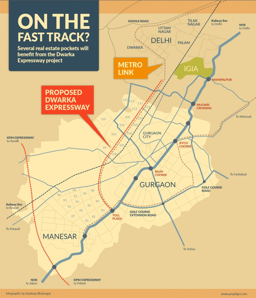 dwarka expressway route map Dwarka Expressway Delhi Stretch Inaugurated All You Need To Know dwarka expressway route map