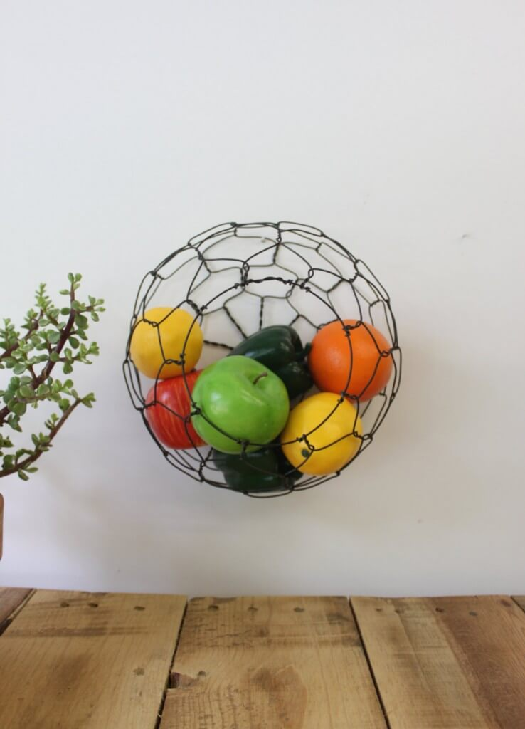 Fruit basket on wall