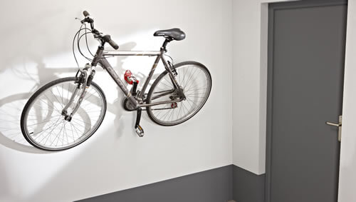 bicycle on wall