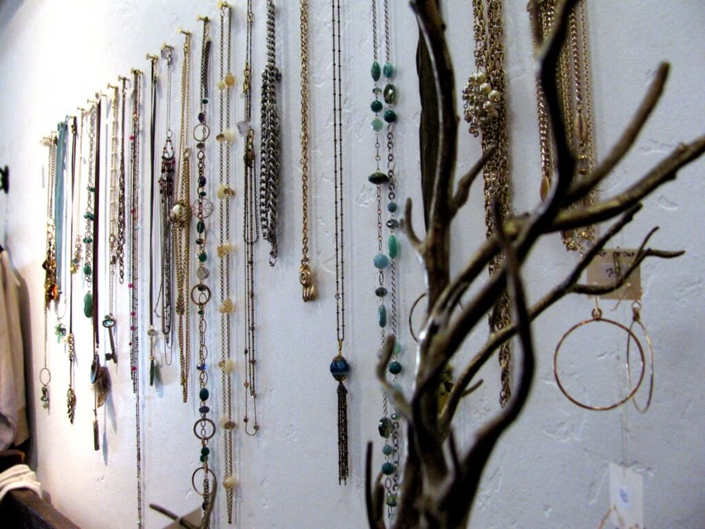 jewellery on wall