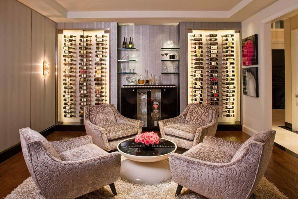 wine cellar on wall